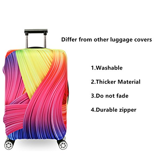 Fvstar Washable Luggage Cover Protector Spandex Suitcase Cove Baggage Protective Bag Carry On Covers 29-32 inch