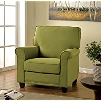 Furniture of America Bettie Transitional Upholstered Accent Chair, Green