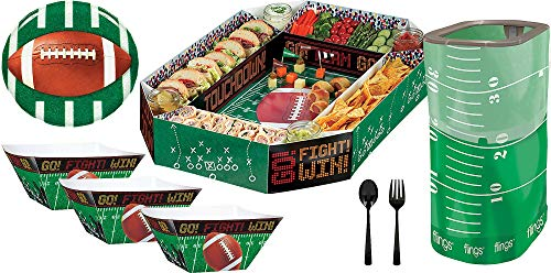 - Party City Football Serveware Party Kit, Football Party Supplies, Cardstock, Includes Party Platter