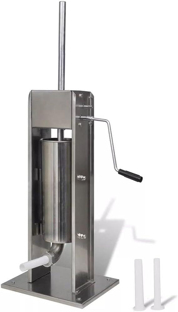 Zora Walter Embutidora Vertical Manual de Acero Inoxidable 5 L Tamaño del Cilindro: 15 x 31 cm (diámetro x Altura) Cocina y Comedor Electrodomésticos de Cocina: Amazon.es: Hogar