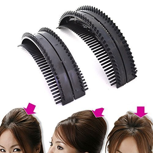 2 Size New Hair Comb Bumpits Tie Clip Cele-up DIY Hair Beauty Tool Hair Braider Styling Braid Tool Holder Clip DIY French Grace AOSTEK(TM)