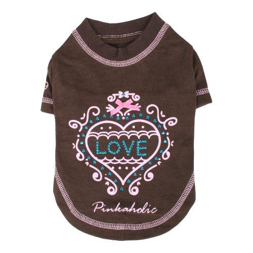 Pinkaholic New York Lovely Tee-Shirt, Brown, Medium, My Pet Supplies