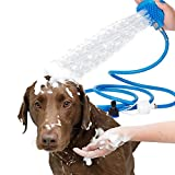 Old Tjikko Dog Shower,Pet Bathing Tool,Shower Brush Grooming Tool Sprayer and Scrubber for Dogs and Cats (Blue)