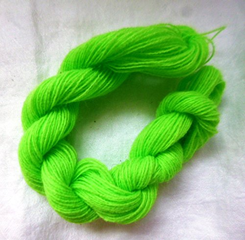 - Easy Care Neon Lime Green Acrylic Fingering Lace Weight Knitting Crochet Yarn