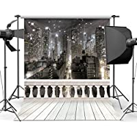 SJOLOON City Night 10 x 10 CP Backdrop Computer Printed Scenic Photography Background Photo Backdrop JLT9416