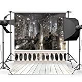 SJOLOON City Night 10' x 10' CP Backdrop Computer Printed Scenic Photography Background Photo Backdrop JLT9416