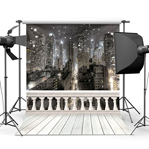 SJOLOON 10x10ft City Night Photography Backdrop Computer Printed Scenic Photography Background Photo Backdrop JLT9416 -