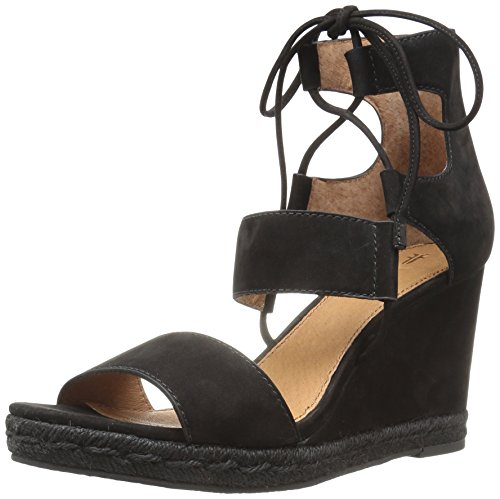 FRYE Women Roberta Ghillie Wedge Black
