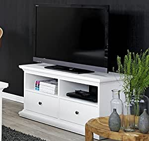 White Tv Stand With Drawers Flat Screen Tv