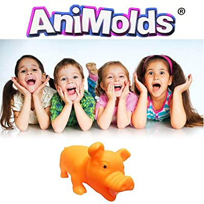 Toy for Daycare by Animolds Squeeze Me Piggie Great for Kids Boys Girls Playground Bring Smile to Your Kids (Yellow): Office Products