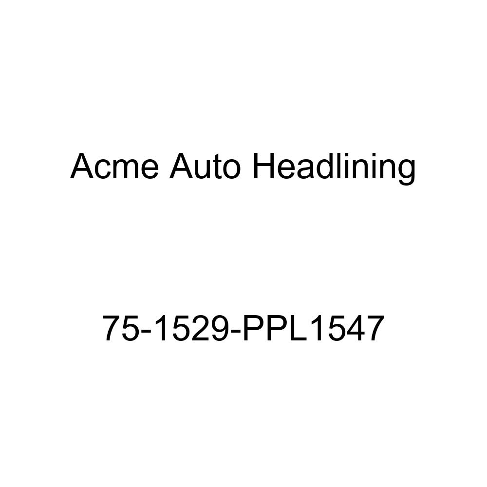 Acme Auto Headlining 75-1529-PPL1547 Medium Blue Replacement Headliner 7 Bow 1975 Pontiac Lemans 4 Door Wagon