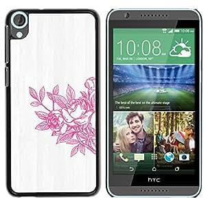 iKiki Tech / Estuche rígido - Spring Art White Washed Grey - HTC Desire 820
