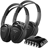 Soundstream VHP-9002 Pair of 2-Channel Wireless Headphone with Swivel Earpad and Carrying Case