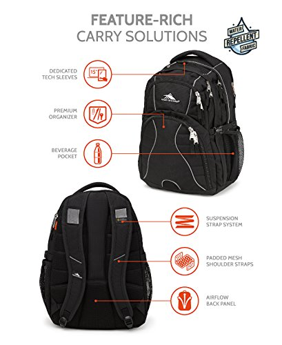 High Sierra Swerve Backpack, Black by High Sierra (Image #8)