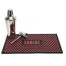Shacke 18 x 12 inch Bar Drink Mat - Premium Rubber Service Spill Design