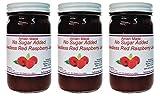 No Sugar Added Amish Jam Seedless Red Raspberry - 8 Oz. Jar - Qty 3