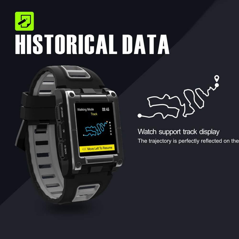 Lovewe Professional IP68 Waterproof Swimming Smart Watch Fitness Tracker Bluetooth GPS Wristband Colorful UI (Black) by Lovewe_Smart Watch (Image #5)