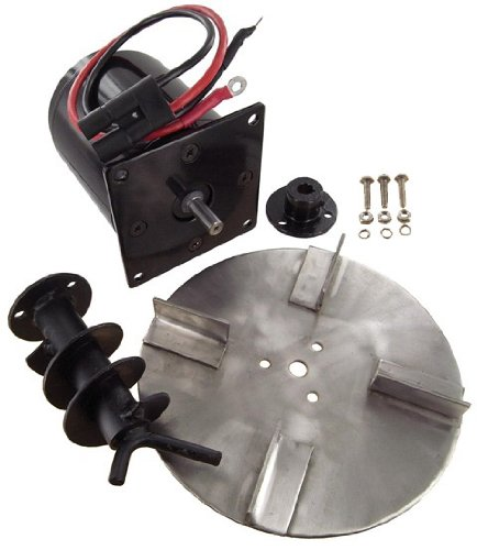 Salt Spreader Motor Kit Meyer Buyer Motor Spinner Auger Hub Lead Wire Sealed Ball Bearing Square Mounting Plate