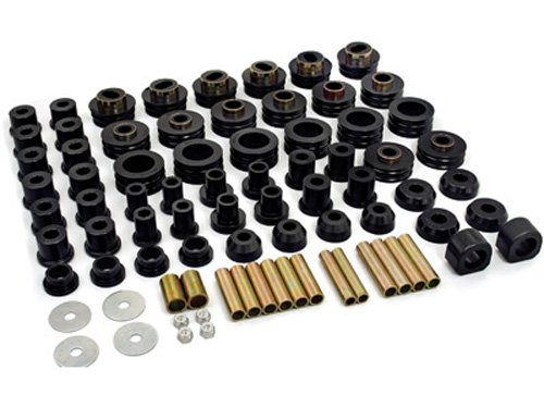 Daystar, Jeep CJ Super Kit Master Polyurethane Set, fits CJ5/7 1980 to 1986 4WD, KJ09003BK, Made in America, Black Body Mount Bushing Set
