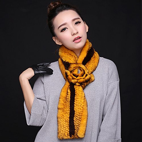 Wuyulunbi@ Autumn and Winter Scarf Knitted Scarf,Yellow and Black by Wuyulunbi@ (Image #1)