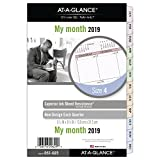 "AT-A-GLANCE Day Runner Monthly Planner Refill, January 2019 - December 2019, 5-1/2"" x 8-1/2"", Loose Leaf, Size 4, Nature (061-685)"