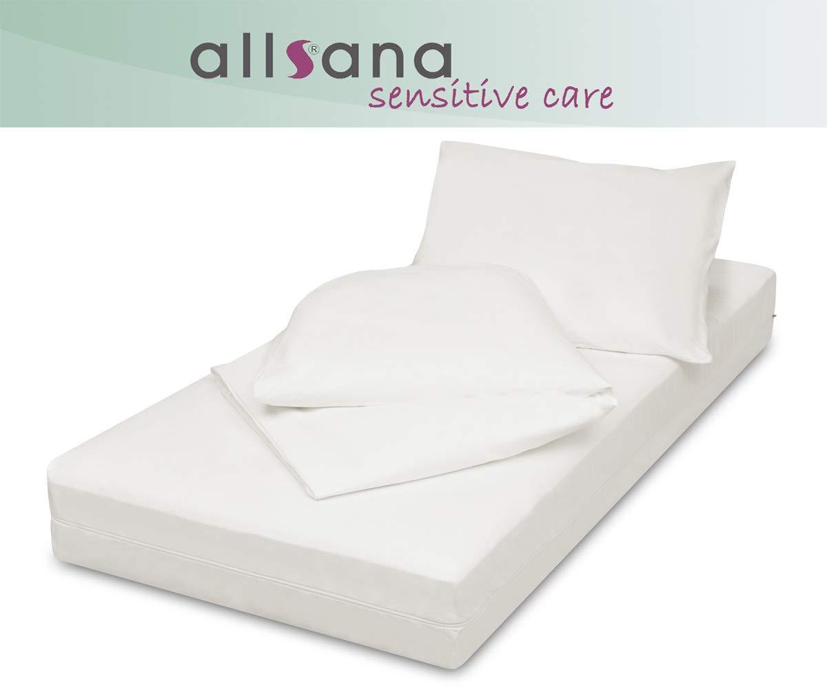 Allsana Encasing Set 3-teilig  140x200x20 135x200 40x80cm, Allergiker Bettwäsche