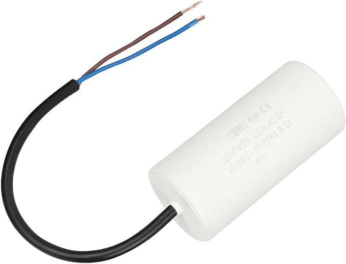 Condensatore di marcia CBB60 Condensatore di corrente con cavo 250V CA 100uF 50//60Hz per compressore daria motore
