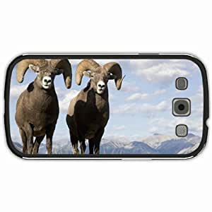 New Style Customized Back Cover Case For Samsung Galaxy S3 Hardshell Case, Black Back Cover Design Bighorn Sheep Personalized Unique Case For Samsung S3