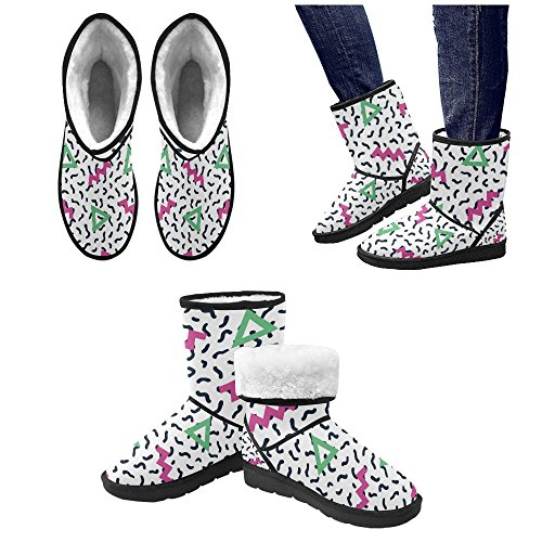 12 Classic Circles 5 Print Color13 Snow 5 colorful Size Floral InterestPrint Doodle Tribal Womens Pattern Ethnic Ladies Boots Px1qUnS