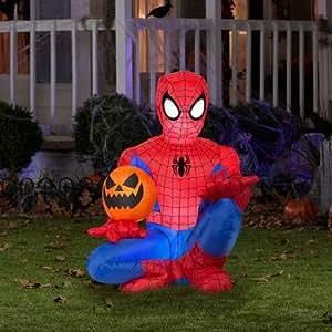 Amazon.com: Spiderman Holding Pumpkin Halloween Airblown