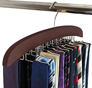 Amazon.com: SunTrade - Colgador de corbata de madera, 24 ...