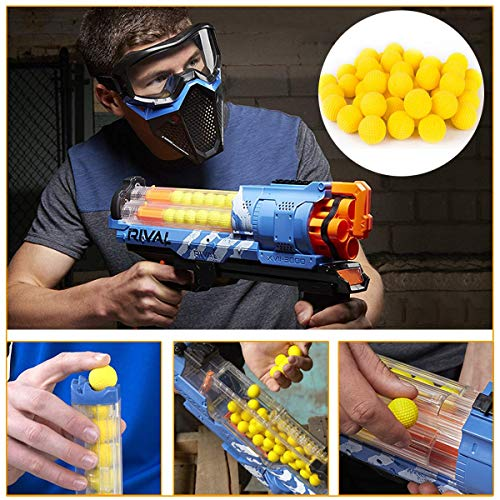 POKONBOY 300 Rounds Refill Pack Balls Ammo Compatible with Nerf Rival Gun - Bulk Yellow Foam Bullet Ball Replacement Refill Pack for Blasters Guns