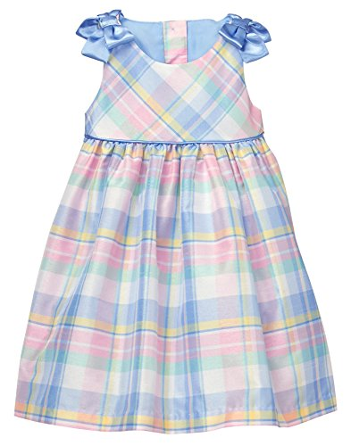 Gymboree Baby Girls Sleveless Plaid Dress, Periwinkle, 18-24 Mo