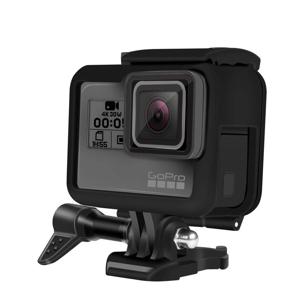 Impact Imagery – GoPro Hero 5 & 6スケルトンフレーム – 保護低プロファイルカメラハウジング – クイックリリースラッチとサイドポート開口部   B078P56WJ7