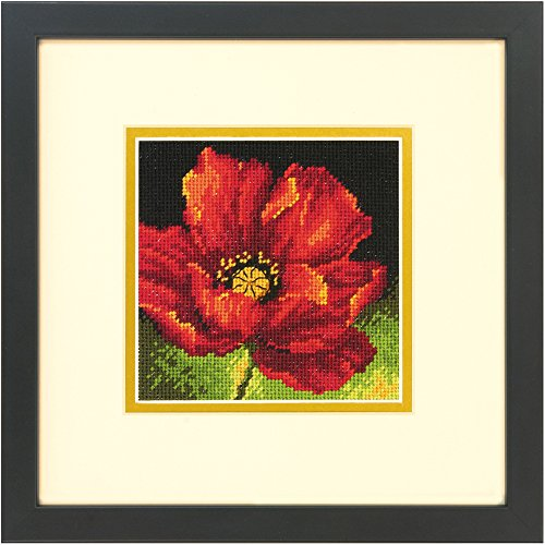 Dimensions Needlecrafts Red Poppy, Needlepoint Kit Dimensions Needlepoint Kits