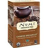 Numi Organic Tea-Chinese Breakfast, Full Leaf Black Tea, 18 Count (1 box) non-GMO Tea Bags-Premium Organic Black Tea