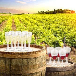 20 Bio CALICI VIN Eau 100 CC H 9,5 Verres avec Pied PLA Transparents rigides biod/égradables et compostables Uni EN13432 jet/és dans Le d/échet Humide Flutes pour vins et Boissons