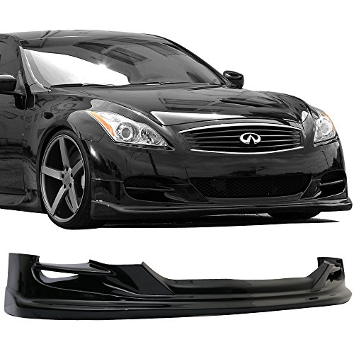 Fit 2008-2010 Infiniti G37 Coupe TS Type Front Bumper Lip Painted Black (G37s Coupe)