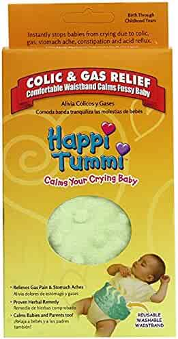 Happi Tummi Baby Gas Relief All Natural Belly Wrap Natural Herbal Aroma Therapy Relief For Infants and Babies with Colic, Gas,Upset Tummies Honeydew Green