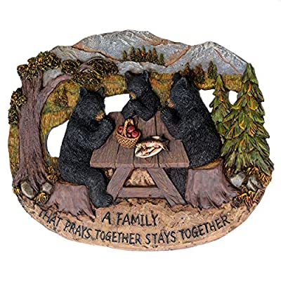 Pine Ridge Family That Prays Together Bear Plaque: Home & Kitchen