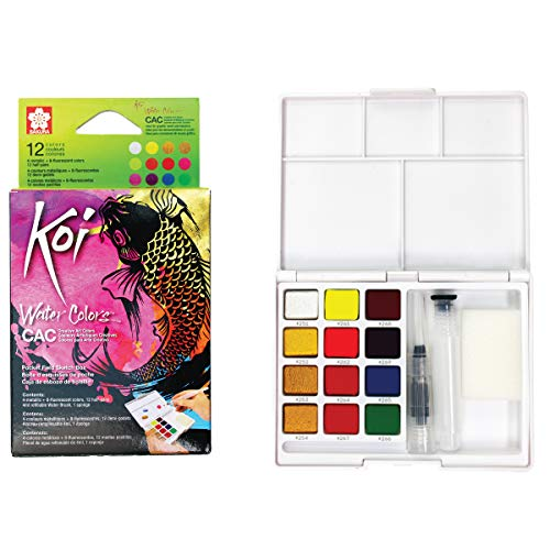 Sakura XNCW-12MH Koi Watercolor CAC Box 12 Color Field Sketch Set -