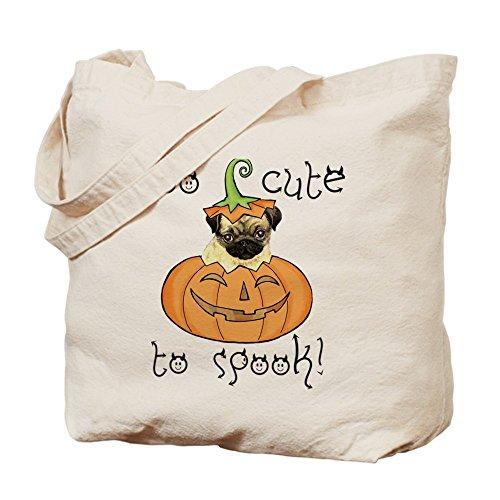 CafePress diseño de Halloween Pug Tote Bag–Natural gamuza de bolsa de lona bolsa, bolsa de la compra