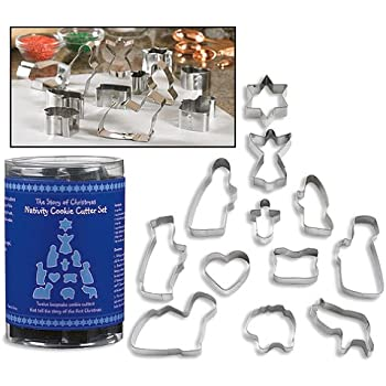 Story of Christmas Nativity Set of 12 Metal Cookie Cutter Set