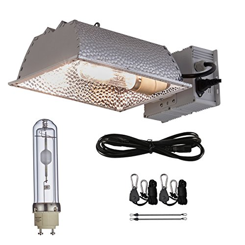 TopoGrow 315W CMH CDM Grow Light Kit W/3100K Bulb& Horizontal Ballast 120V-240V&Enclosed Reflector (315W Enclosed Kit /3100K)