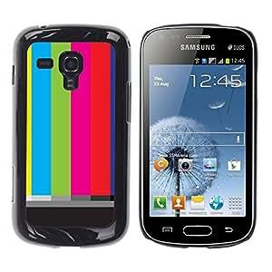 Be Good Phone Accessory // Dura Cáscara cubierta Protectora Caso Carcasa Funda de Protección para Samsung Galaxy S Duos S7562 // Old Tv Screen Stripes Art Television Retro