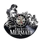 Vinyl Wall Clock The Little Mermaid Creative Clock For Sale