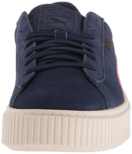 PUMA Unisex-Kids Suede Platform SNK Sneaker, Peacoat-Winsome Orchid Team Gold, 5 M US Big Kid by PUMA (Image #4)