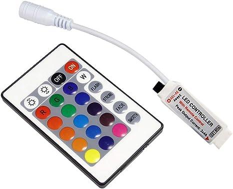 Waterproof 5050 5630 LED Strip Light 16.4ft Roll Lamp 12V RGB 24-Key IR Remote