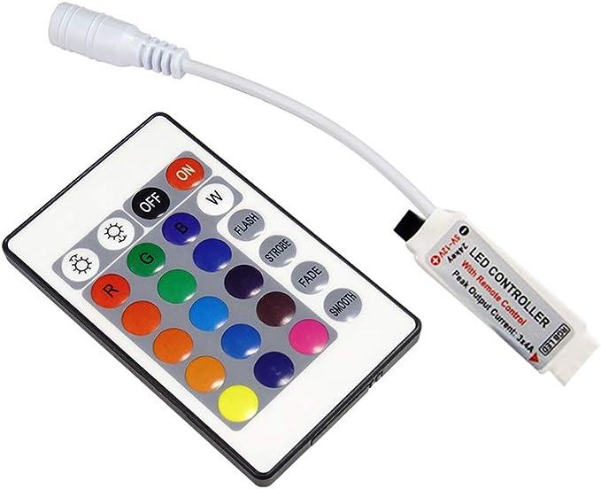 24 Key IR Remote Controller Box Récepteur Kit 12 V Pour 5050 RGB DEL bande lumière