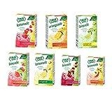 True Lime 7 flavor variety Pack: WATERMELON AQUA FRESCA, LIMEADE, Original Lemonade, Peach, Black Cherry, Raspberry & Mango Orange. True Citrus Assorted Beverage Pack: (7 boxes), Red